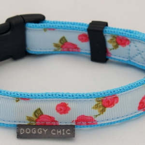 Blue-Vintage-Rose-Dog-Collar-