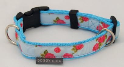Blue-Vintage-Rose-Dog-Collar-