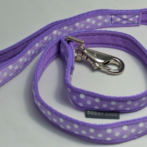 DCHIC Lilac Polka Dot Lead for your dog