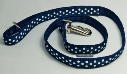 DCHIC Navy Blue Polka Dot Lead for your dog