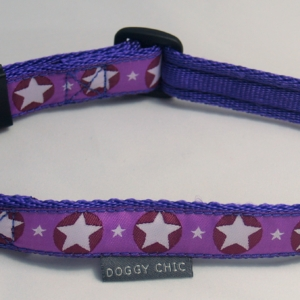 DCHIC-Purple-Star-Dog-Collar- for your dog