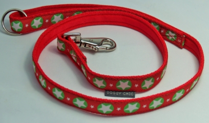 Red Magic star lead for your dog