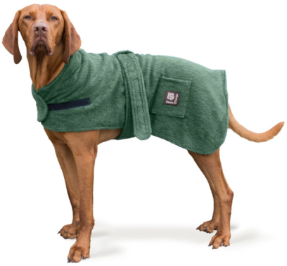 Toweling robe for your dog
