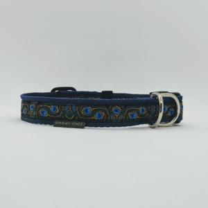 pretty blue dog collar