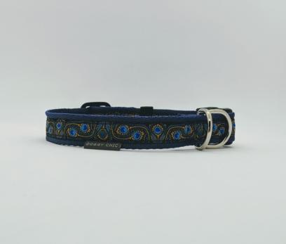 pretty blue dog collar
