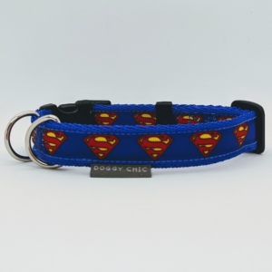 superman superhero dog collar