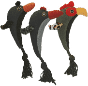 bird tug tails toy for your dog