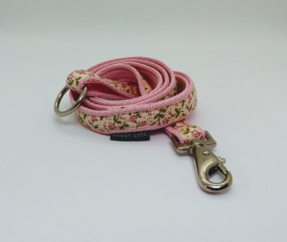 baby pink mini flowers lead for your dog