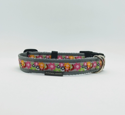 pink handmade collar for your dog