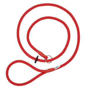 Red Braid Slip Lead for your dog