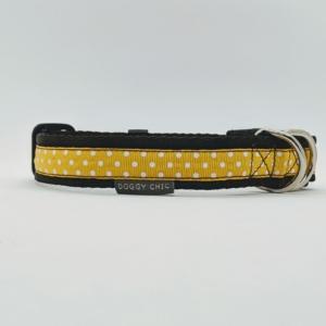 yellow polka dot collar for your dog