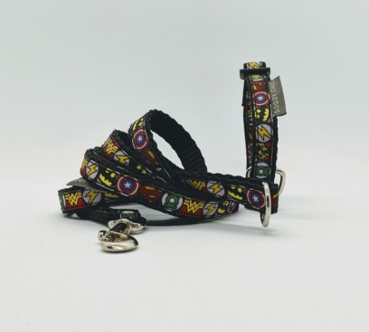 Marvel Superhero collar and lead for Small Dogs & Puppies