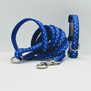 Royal Blue Polka Dots for Small Dogs & Puppies
