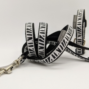 animal print puppy collar and lead
