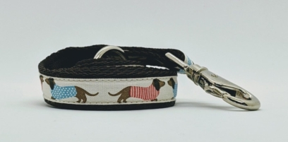 Cream Chocolate Dachshund Dog Lead