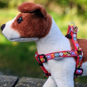 doggy chic marvel superhero dog harness in red