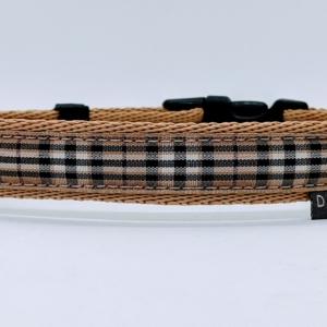 designer tartan dog collar