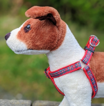 doggy chic royal stewart tartan dog harness