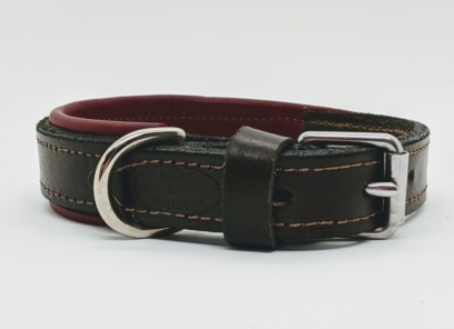 luxury leather dog collar
