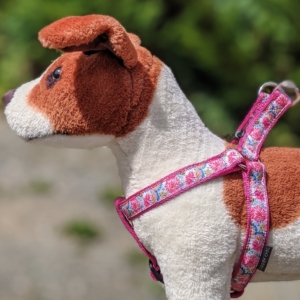pretty floral dog harness