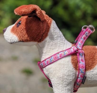 pretty floral dog harness