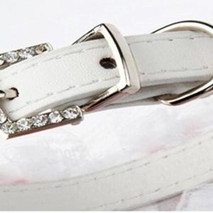pearl and rhinestone bling collar