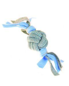 rope ball tugger dog toy