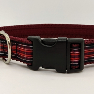 welsh tartan dog collar