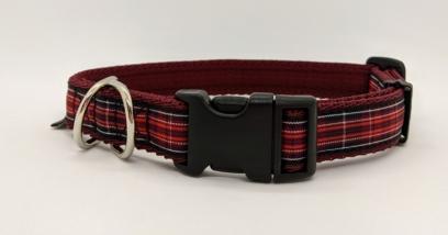 welsh tartan dog collar