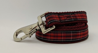 pride of wales tartan dog lead