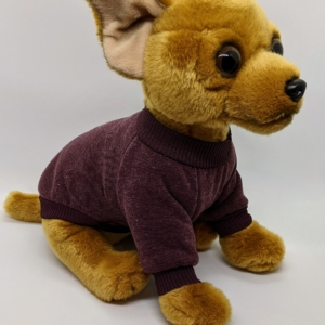 Sweatshirt Dog Jumper in Chocolate