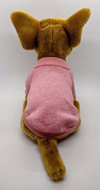 Sweatshirt Dog Jumper in Soft Pink