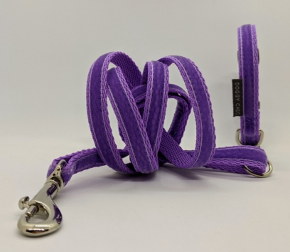 Lilac Velvet Puppy collar and Lead