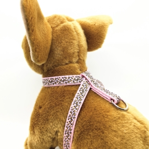 pink leopard harness