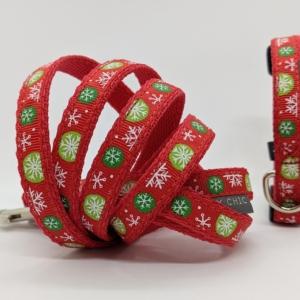 christmas collar and lead