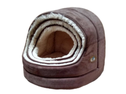 Nordic Hooded Bed in Chocolate Brown