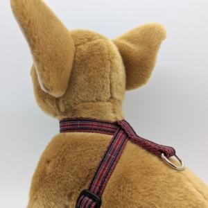 Red Tartan Puppy Harness