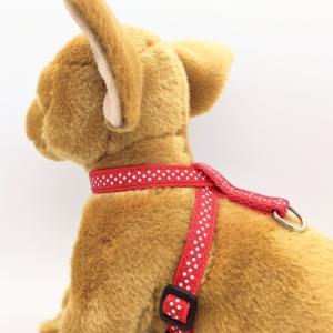Red Polka Dot Dog Harness