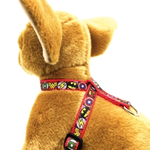Superhero in Red Harness for Small Dogs and Puppies