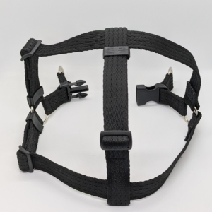 black dog harness