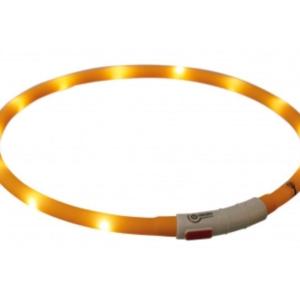 Flash Light Ring USB Silicone XS_XL 70cm_10mm Orange