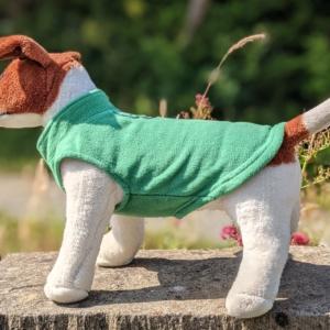green dog jumper/fleece